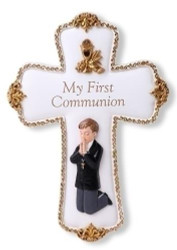 Joseph's Studio Boy Communion Wall Cross