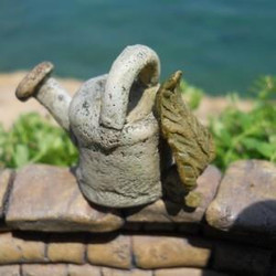 Fairy Garden Leaf Watering Can