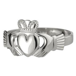 Women's Traditional Sterling Silver Claddagh Ring - 5390496095020