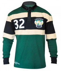 Croker Green Panelled Long Sleeve Rugby Shirt