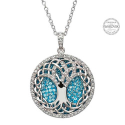 Tree Of Life Necklace Encrusted With Swarovski Crystals