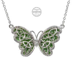 Trinity Butterfly Necklace Embellished With Swarovski Crystals
