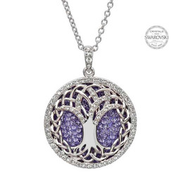 Tree Of Life Necklace Adorned By Swarovski Crystals