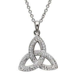 Trinity Knot Necklace Embellished with Swarovski Crystals