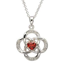 January Celtic Birthstone Necklace