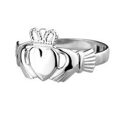 Sterling Silver Mens Claddagh Ring