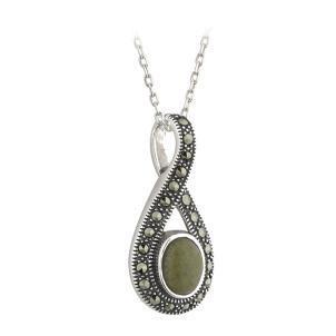 Connemara and marcasite pendant irish marble necklaces connemara and marcasite pendant aloadofball Images