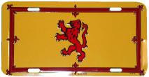 Scottish Rampart Lion License Plate