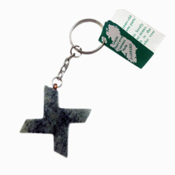 Connemara Marble Cross Keychain