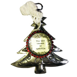 Tis The Season Tin Tree Ornament - 0748388938095