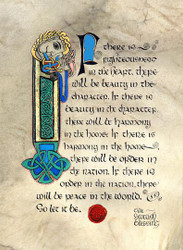 Old Scottish Blessing Matted Print