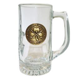 Irish Golf Beer Mug with Pewter Emblem