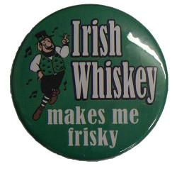 Irish Whiskey Frisky Button
