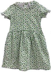 Irish Bundles Shamrock Print Dress with Green Trim