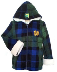 Notre Dame Fleece Jacket with Hood -