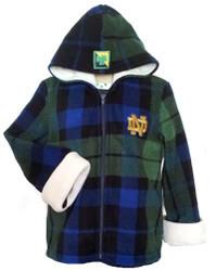Notre Dame Fleece Jacket with Hood
