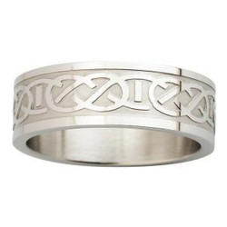 Men's Celtic Weave Stainless Steel Band