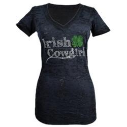 Irish Cowgirl Burnout Shirt