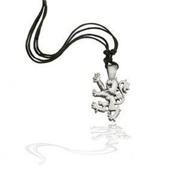 Unisex Scottish Lion Pewter Necklace