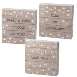 Goodnight Plaque Set