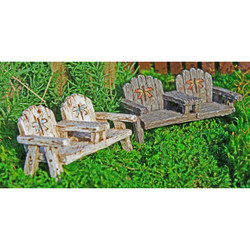 Fairy Garden Dragonfly Chair with Table
