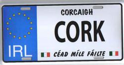 Co. Cork License Plate - 5391494000375