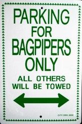 Parking For Irish Bagpipers