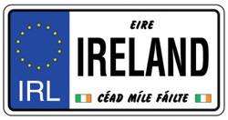 Ireland License Plate - 5391494000474
