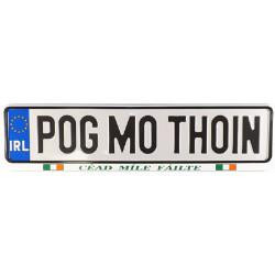 Genuine Irish Car Registration Plate  Pog Mo Thoin