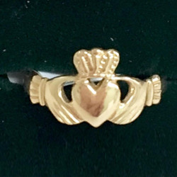 Gold Maiden Claddagh Ring - 10k Made in Ireland