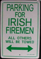 Parking For Irish Firemen