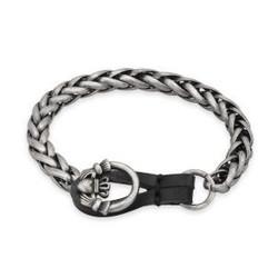 Claddagh Snake Link Pewter Bracelet