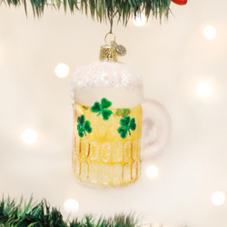Irish Beer Blown Glass Ornament - 0729343321398