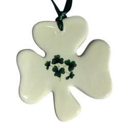 Shamrock Ceramic Ornament -