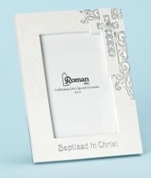 Silver Scroll Baptism Frame