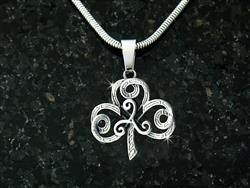 """The Journey"" Shamrock/Triskel Necklace -"