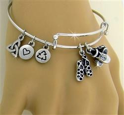 """Celebration""of Irish Dance Charm Bangle"