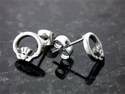 Wee Claddagh Post Earrings -