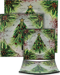Christmas Tree Plates- Set Of 3