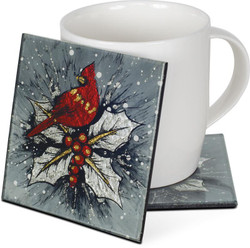 Cardinal Coasters- Set Of 4