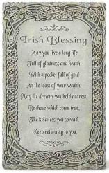 "8"" Irish Blessing Wall Plaque - 0089945479638"