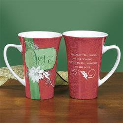 """Joy"" Christmas Latte Mug"