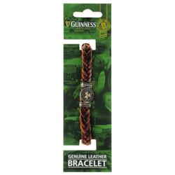 Guinness Ireland Brown Leather Shamrock Bracelet - 5390711607595