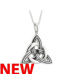 STERLING SILVER LARGE HEAVY CELTIC KNOT PENDANT