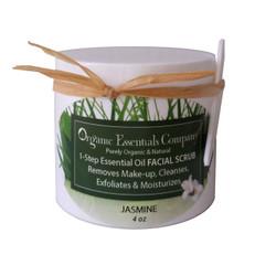 Organic Facial Scrub Jasmine 4 oz.