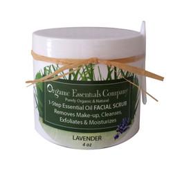 Organic Facial Scrub Lavender 4 oz.
