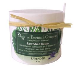 Organic Shea Body Butter Lavender 4 oz.