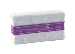 Instilled with organic lavender extract from our very own fields in County Wicklow, this is a wonderful soap for the entire family  Made with pure and natural vegetable oils, it is gentle on the skin and cleanses without drying.. And the subtle fragrant blend of lavender extract and spices has a soothing aromatherapy effect that helps calm the mind and relax the body.  Wrapped in pure Irish linen, the wrap can be used as a gentle exfoliating cloth.