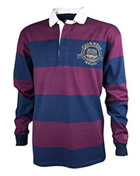 Guinness Wine and Navy Striped Rugby Jersey