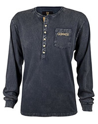 Guinness Classic Washed Black Henley